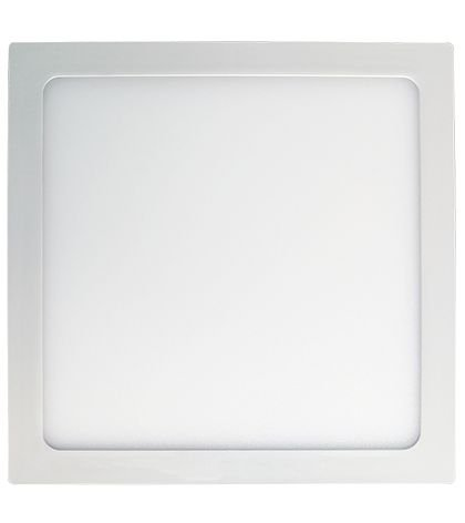 Plafon de sobrepor LED 18W 3000K - 21 x 21cm