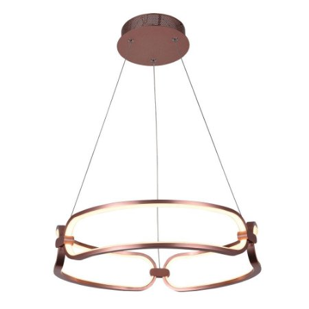 Pendente Lumina Rose Gold com Led integrado - 45x9,5cm