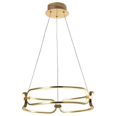 Pendente Lumina French Gold com Led integrado - 45x9,5cm
