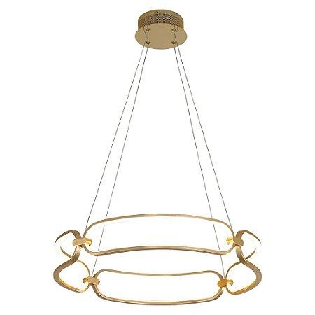 Pendente Lumina French Gold com Led integrado - 60x9,5cm