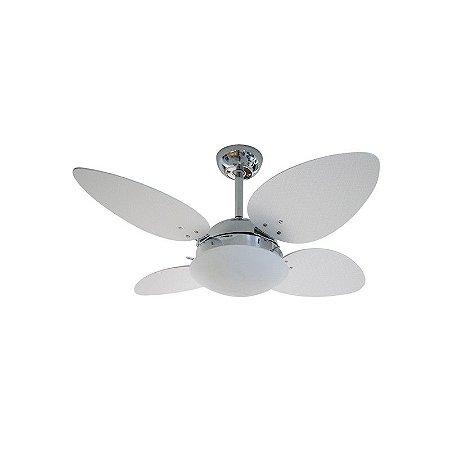 Ventilador  62410 Cromado/Branco 127V