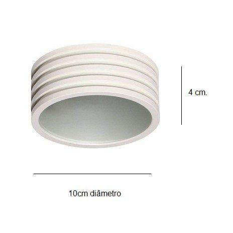 Mini Plafon HSR Redondo Sobrepor 10x4cm - NC1349-W