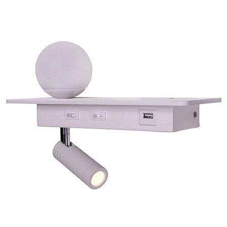Arandela HSR c/ USB integrado - lado esquedo - 8w