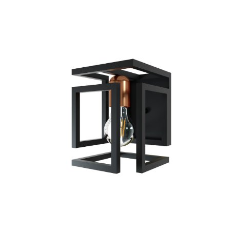 Arandela BOX OR511 Preto/Bronze