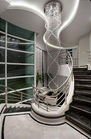 Plafon em Cristal para Pé-Direito com 3,5 metros de fio
