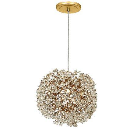 Pendente 100-10 ninho cristais ouro - 10 cm