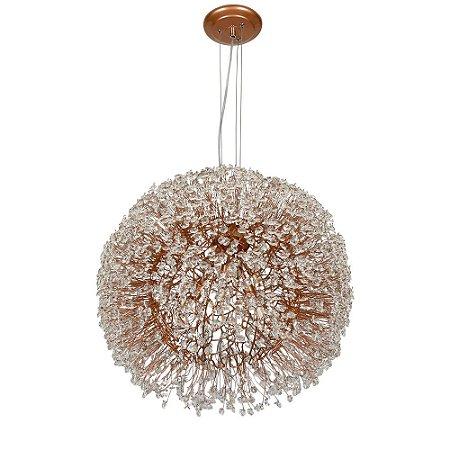 Pendente 200-40 ninho cristais dourado - 40cm