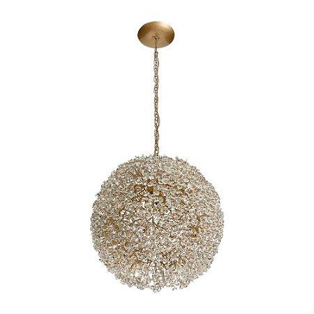 Pendente Ninho com Cristal 200-30 dourado - 30cm