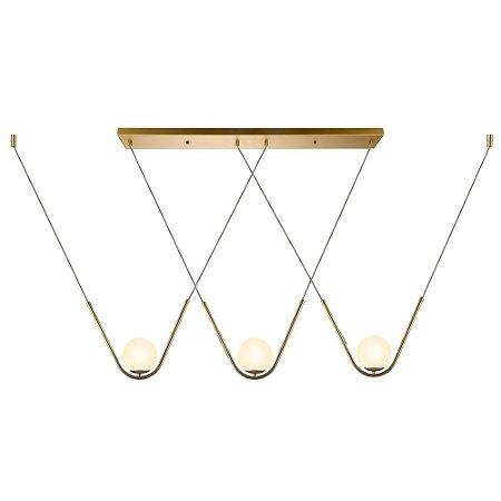 Pendente HP001 Dourado - 12cm x 108cm x 25cm