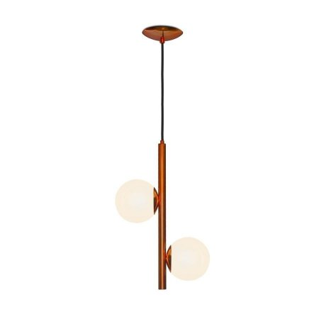 Pendente Ono Cobre 800/2 com duas esferas - 50x24cm
