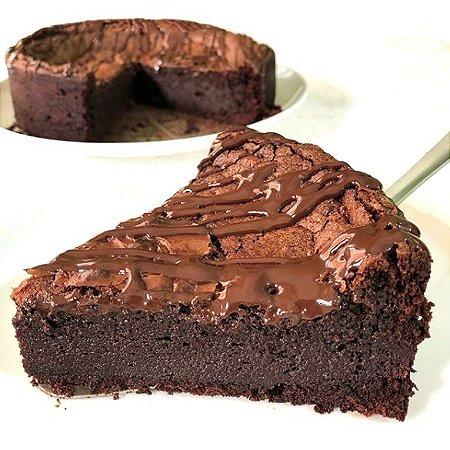 Torta Brownie Fit Low Carb Sem Açúcar com Whey 1kg