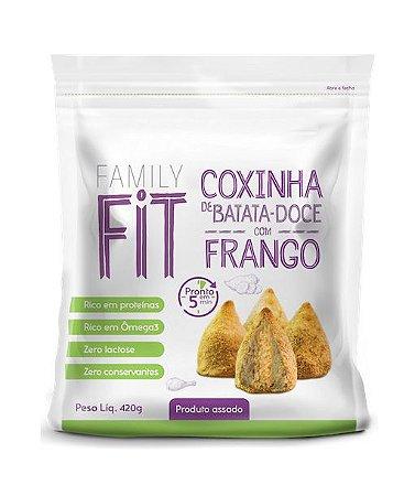 Coxinha de Batata Doce com Frango 420g - 12 unidades (em saco com ziplock)
