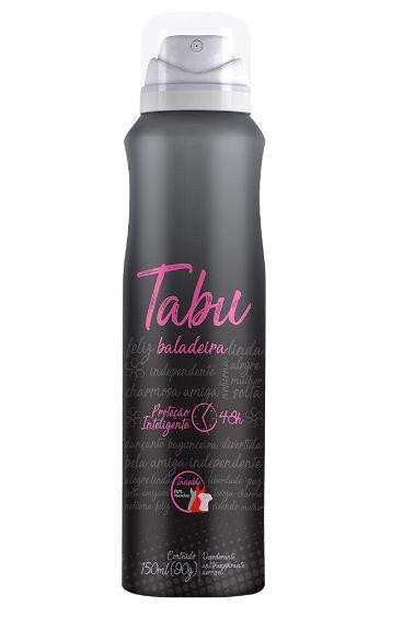 Desodorante Vegano Aerosol Tabu Baladeira 150ml