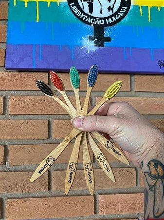 Escova de Dentes Ecologica Biodegradavel de Bambu