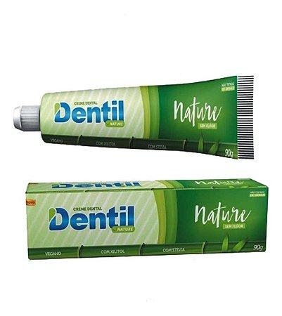 Creme Dental Vegano Sem Fluor Dentil Nature com Stevia 90g