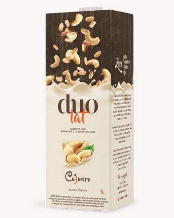 Leite Vegetal Duolat Cajueiro Castanha de Caju e Amendoim 1l