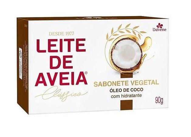 Sabonete Vegano Davene Leite de Aveia com Óleo de Coco 90g