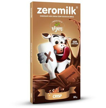 Chocolate Vegano Zeromilk Crisp 80g