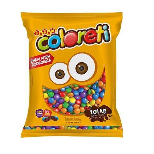 Confeti Vegano Coloreti Embalagem Economica 1,01kg