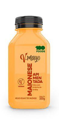 Maionese Vegana  Apimentada 100 Foods 200g