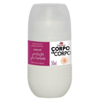 Desodorante Vegano Davene Corpo a Corpo Natural Roll On 50ml
