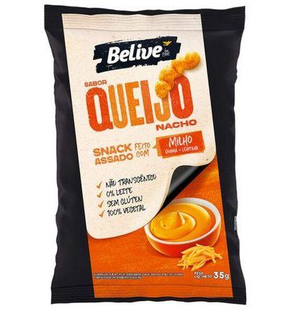 Snack Belive Sabor Queijo Nacho 35g