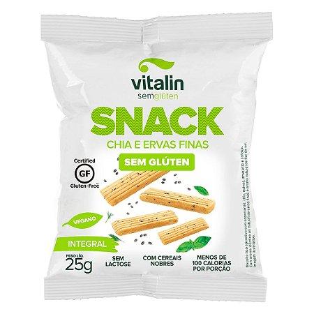 Snack Salgado Chia e Ervas Finas Sem Gluten 25g