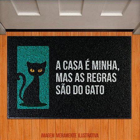 Capacho A casa é minha, mas as regras são do gato