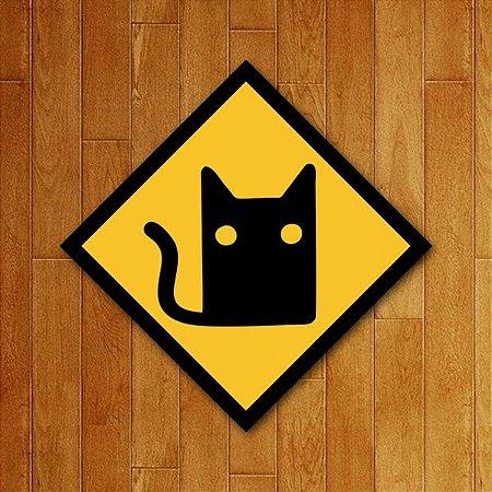 Placa Decorativa Cat