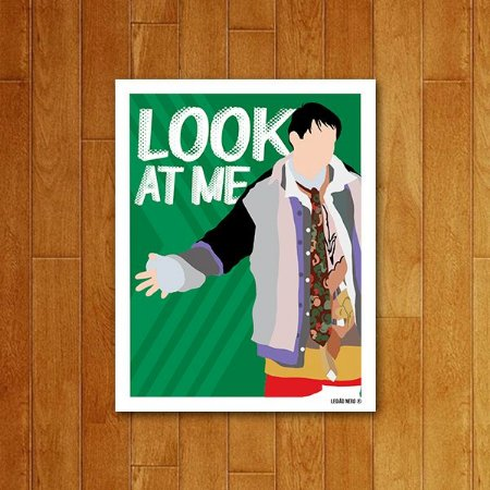 Placa Decorativa Look At Me