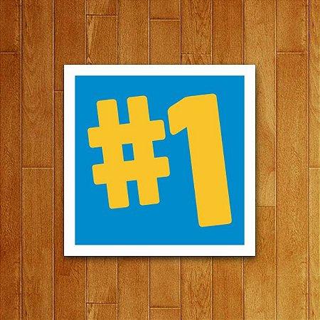 Placa Decorativa Número 1