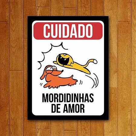 Placa Decorativa Mordidinhas De Amor -  Um Sábado Qualquer