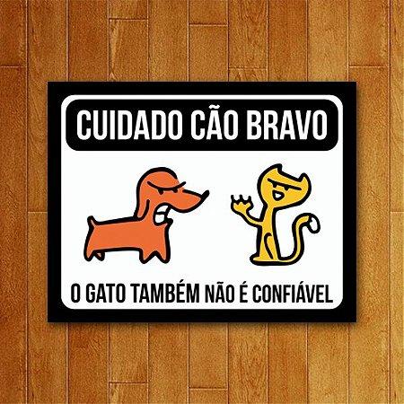 Placa Decorativa Cão Bravo - Um Sábado Qualquer