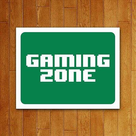 Placa Decorativa Gaming Zone V2