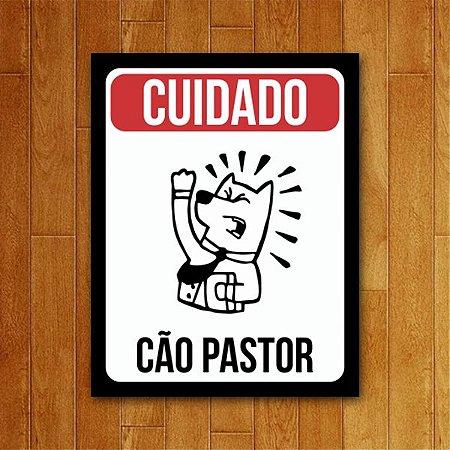 Placa Decorativa Cão Pastor - Um Sábado Qualquer