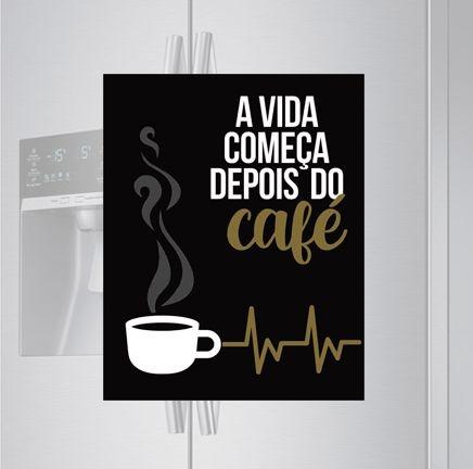 Imã de geladeira - Depois do café