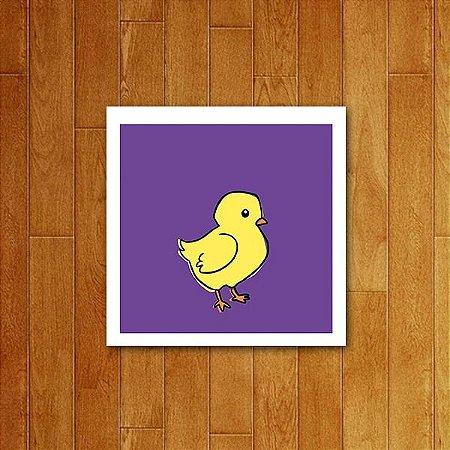 Placa Decorativa Ícone Pato de borracha