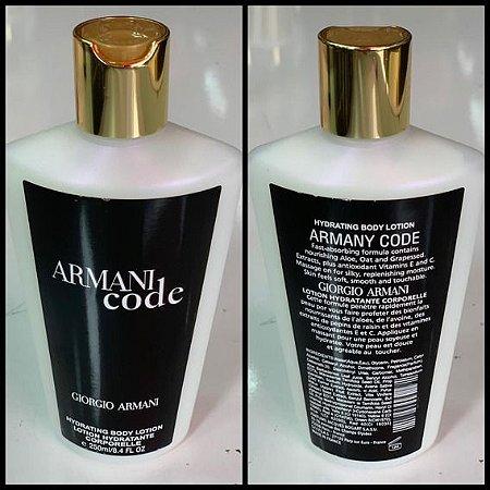 Creme hidratante Armani code