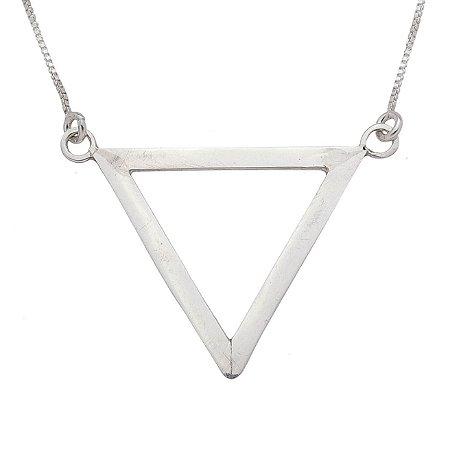 Colar de prata triângulo