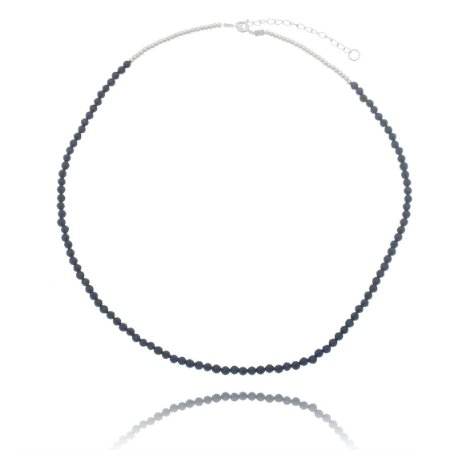 Colar fio de aço - Lapis lazuli