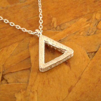 Colar triangulo cravejado