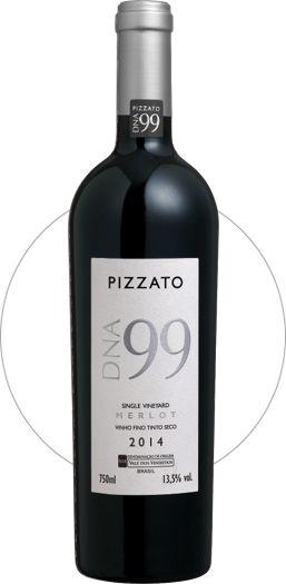 Vinho Tinto Pizzato DNA 99 Single Vineyard Merlot D.O.V.V. 2015
