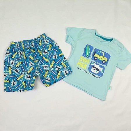 Conjunto Camiseta Manga Curta e Shorts