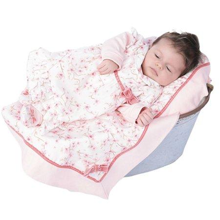 Saída Maternidade Rosa Delicada Com Manta