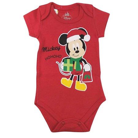 Body Manga Curta de Natal Mickey