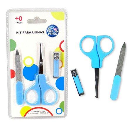 Kit Higiene Primeiros Cuidados Unhas do Bebê Com 3 Peças