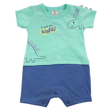 Roupa de Bebê Menino Macacão Curto Verde