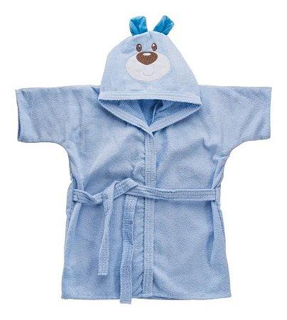 Roupão Bebê Atoalhado com Touca Divertida Urso