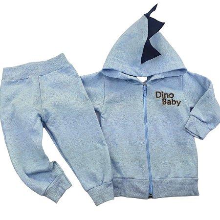 Conjunto Touca Dino Baby Azul