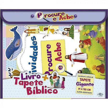 Livro + Tapete Bíblico Procure e Ache